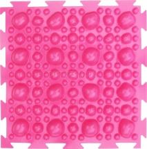 """Массажный коврик Орто """"Камни"""" мягкий 25x25 см, розовый"""