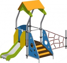 Детская площадка Romana горка и сетка