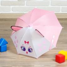 Зонт Кошечка с ушами d=52 см полуавтоматический