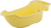 Ванночка Пластик-Центр Жемчужинка с карманом со сливом, желтый