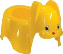 Горшок детский М-Пластика Зайка желтый