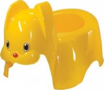 Горшок М-Пластика Зайка желтый
