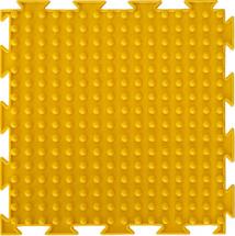 Массажный коврик Орто Шипы мягкий 25x25 см, желтый