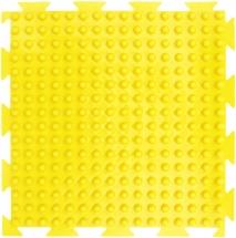 """Массажный коврик Орто """"Шипы"""" мягкий 25x25 см, желтый"""