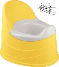Горшок детский Бытпласт музыкальный желтый
