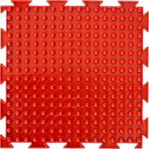 Массажный коврик Орто Шипы мягкий 25x25 см, красный