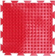 """Массажный коврик Орто """"Шипы"""" мягкий 25x25 см, красный"""