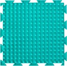 Массажный коврик Орто Шипы мягкий 25x25 см, бирюзовый