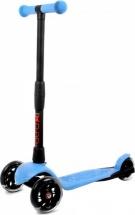 Самокат Buggy Boom Alfa Model 3-х колесный со светящимися колесами, голубой