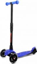 Самокат Buggy Boom Alfa Model 3-х колесный со светящимися колесами, синий