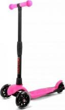 Самокат Buggy Boom Alfa Model 3-х колесный со светящимися колесами, розовый