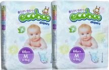 Набор подгузников Ecoboo M (4-9 кг) 2 пачки по 66 шт