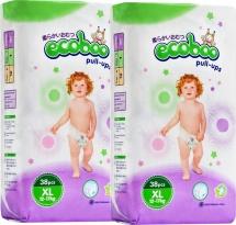 Набор трусиков Ecoboo XL (12+ кг) 2 пачки по 38 шт
