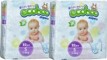 Набор подгузников Ecoboo S (3-6 кг) 2 пачки по 82 шт