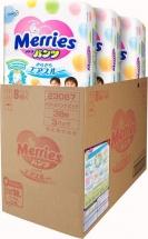 Набор трусиков Merries XL (12-22 кг) 3 пачки по 38 шт
