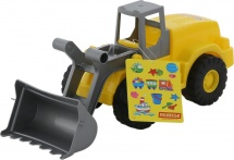 Трактор-погрузчик Полесье Wader Агат, желтый