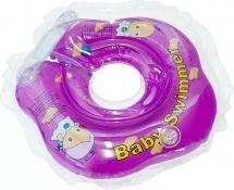 Круг на шею Baby Swimmer фиолетовый (полуцвет) 3-12 кг