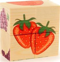 Кубики Фрукты деревянные 4 шт