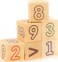 Кубики Цифры счет 6 шт