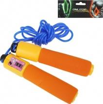Скакалка Onlitop со счетчиком оранжевые ручки