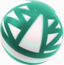 Мяч d=200 мм Зигзаг лакированный