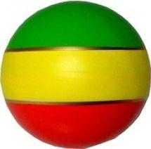 Мяч d=100 мм малый полоски