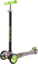 Самокат MobyKids Junior 3.0 с принтом зеленый, до 60 кг