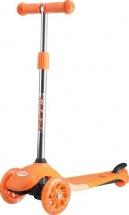 Самокат MobyKids Junior Light 2.0 со светящимися колесами до 40 кг, оранжевый