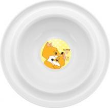 Тарелка Lubby Веселые животные Лисички 300 мл