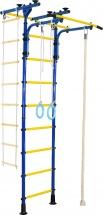 Шведская стенка Юный атлет Пол-потолок-Т, синий