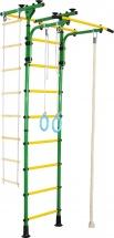 Шведская стенка Юный атлет Пол-потолок-Т, зеленый