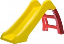 Горка Пластик-центр, желтый скат красная лесенка 70 см