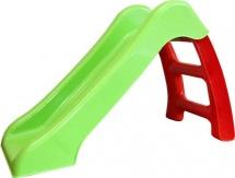 Горка Пластик-центр, зеленый скат красная лесенка 70 см