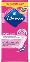Ежедневные прокладки Libresse Dailyfresh Multistyle 60 шт