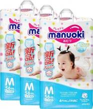 Набор трусиков Manuoki M (6-11 кг) 3 пачки по 56 шт