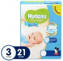 Подгузники Huggies Ultra Comfort для мальчиков 3 (5-9 кг) 21 шт