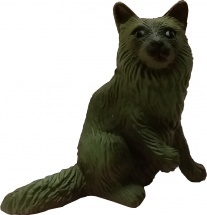 Фигурка Little Zu Домашние питомцы Серый кот