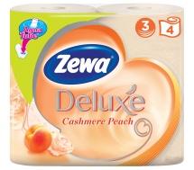 Туалетная бумага Zewa Deluxe Персик 3 слоя 4 рулона
