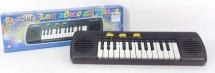 Синтезатор 25 клавиш регулировка громкости, черный
