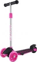 Самокат MobyKids Junior Light 1.0 со светящимися колесами до 50 кг, розовый