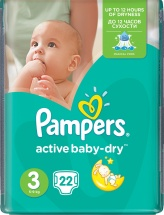 Подгузники Pampers Active Baby 3 (4-9 кг) 22 шт