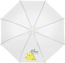 Зонт Приветливый медведь полуавтоматический 89 см, жёлтый