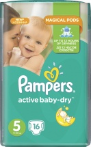 Подгузники Pampers Active Baby 5 (11-18 кг) 16 шт