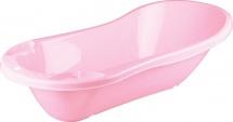 Ванночка Бытпласт со сливом розовая