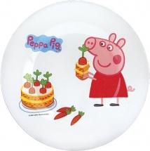Тарелка стеклянная Свинка Пеппа Морковка