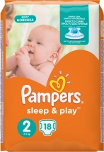 Подгузники Pampers Sleep&Play 2 (3-6 кг) 18 шт