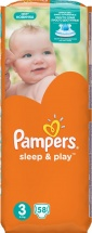 Подгузники Pampers Sleep&Play 3 (5-9 кг) 58 шт
