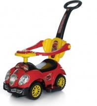 Каталка Baby Care Cute Car музыкальный руль, красный