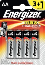 Батарейка Energizer Max AA LR06 алкалиновая, 4 шт