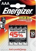 Батарейка Energizer Max AАA LR03 алкалиновая, 4 шт